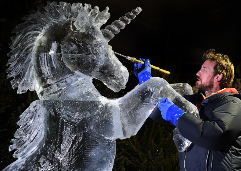Unicorn sculpture in Edinburgh, Scotland