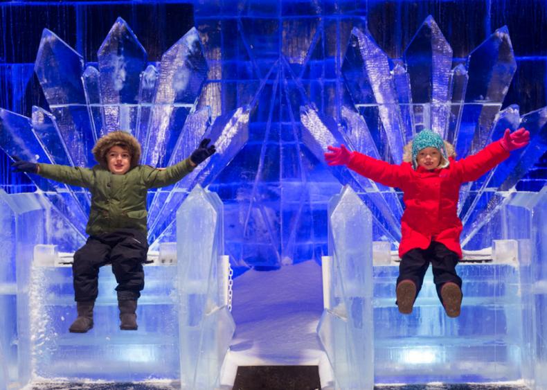 Ice thrones at Hyde Park's Winter Wonderland