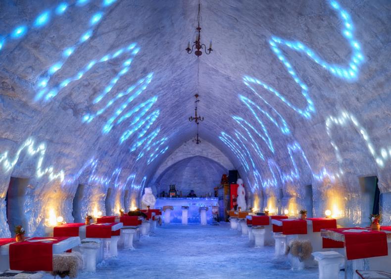 Hotel of Ice in Balea Lake, Romania