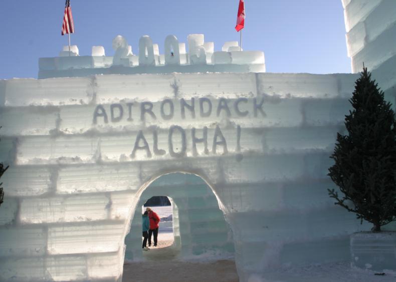 Ice Palace in Saranac Lake, New York