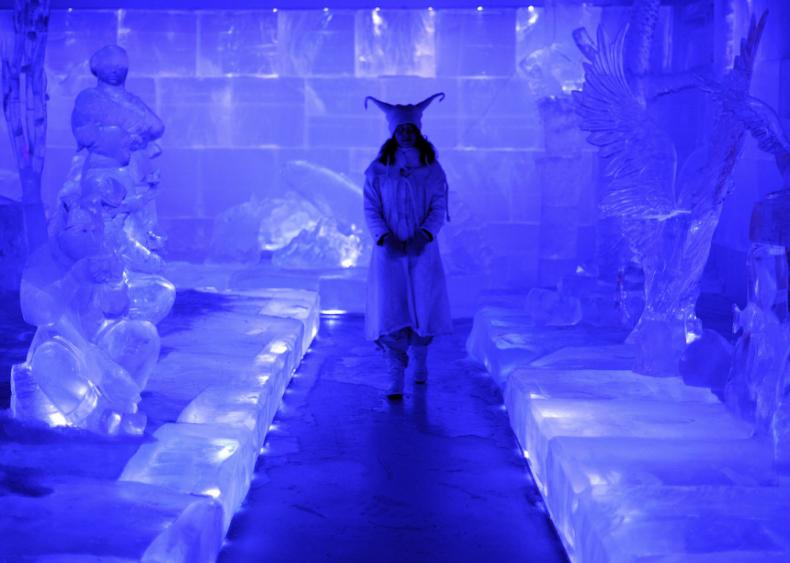 Winter ice sculptures in Rovaniemi, Finland