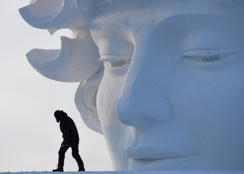 Giant snow sculpture at the Harbin Festival
