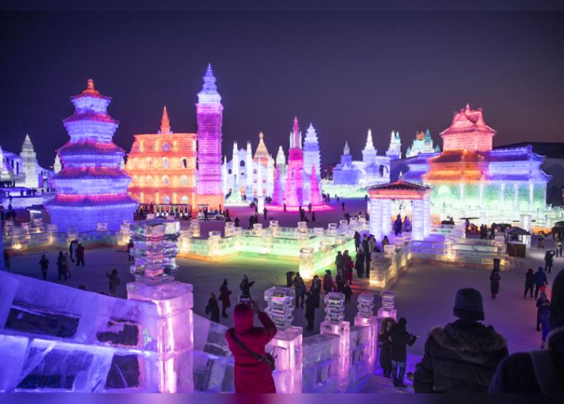 Ice snowmen at the Harbin Festival