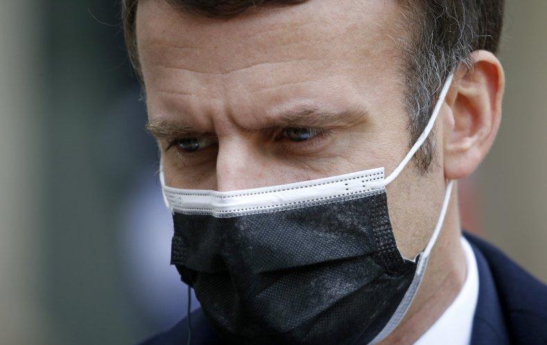 President Emmanuel Macron Wearing a Face Mask
