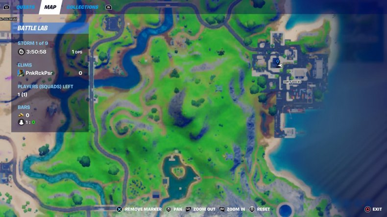 fortnite holiday tree location 1 map