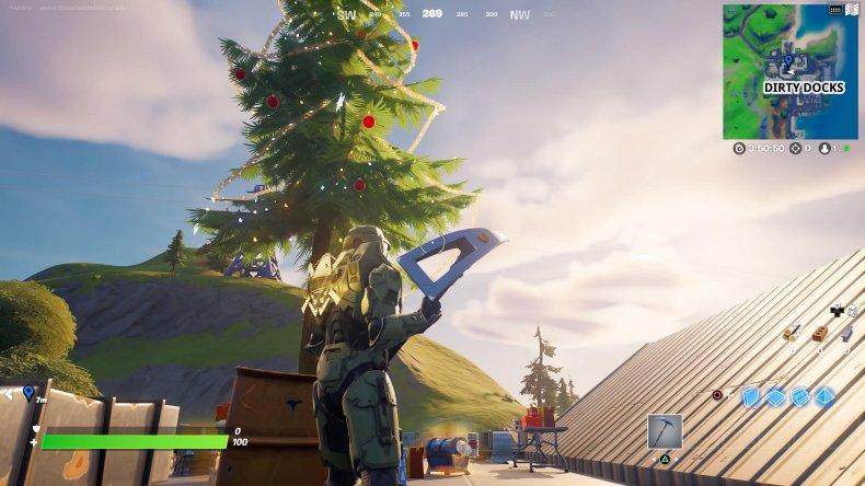 fortnite holiday tree location 1 gameplay