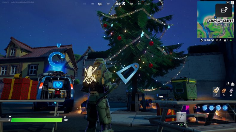 fortnite holiday tree location 2 gameplay