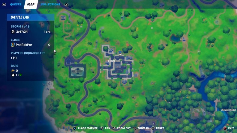 fortnite holiday tree location 3 map