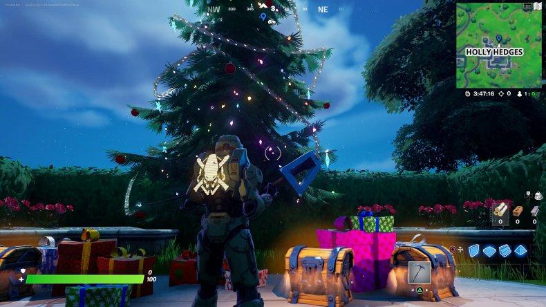 fortnite holiday tree location 3 gameplay