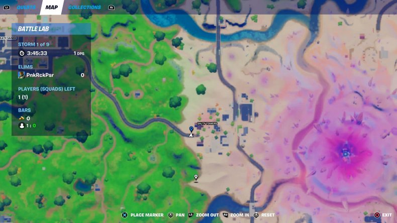 fortnite holiday tree location 4 map