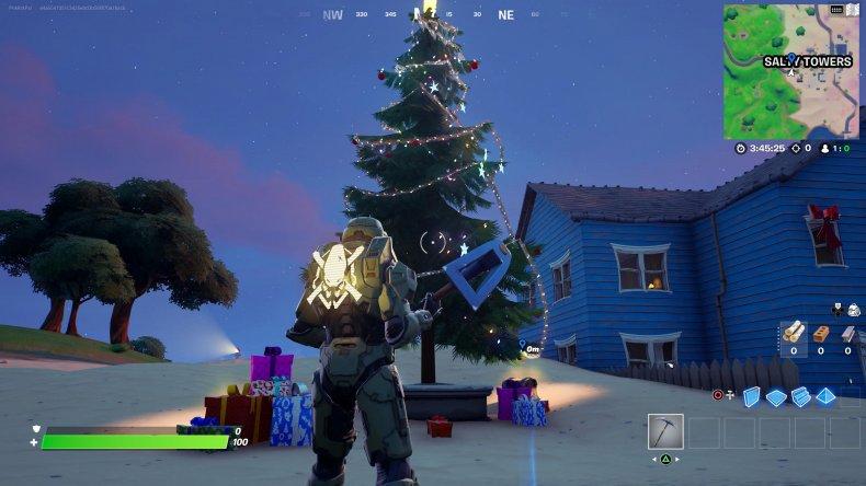 fortnite holiday tree location 4 gameplay