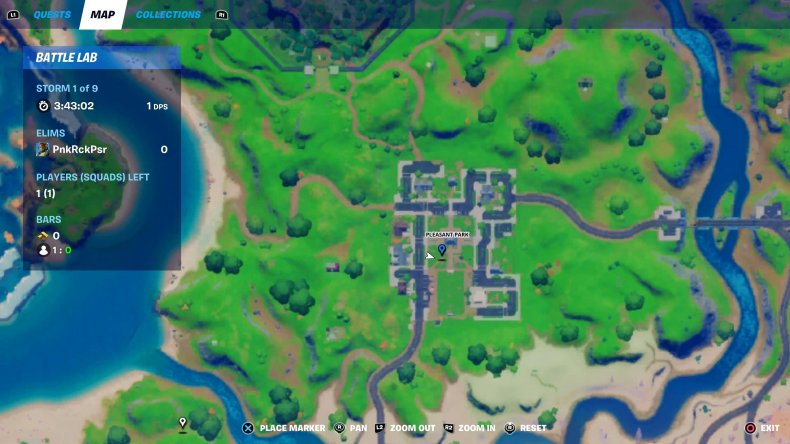fortnite holiday tree location 5 map