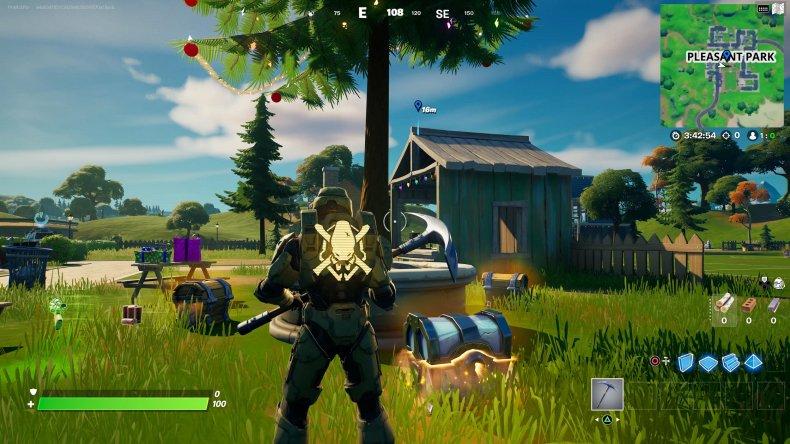 fortnite holiday tree location 5 gameplay