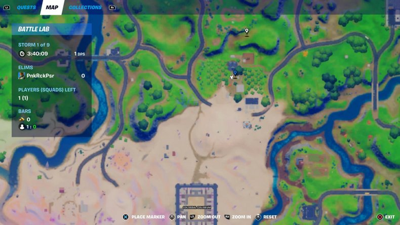 fortnite holiday tree location 6 map