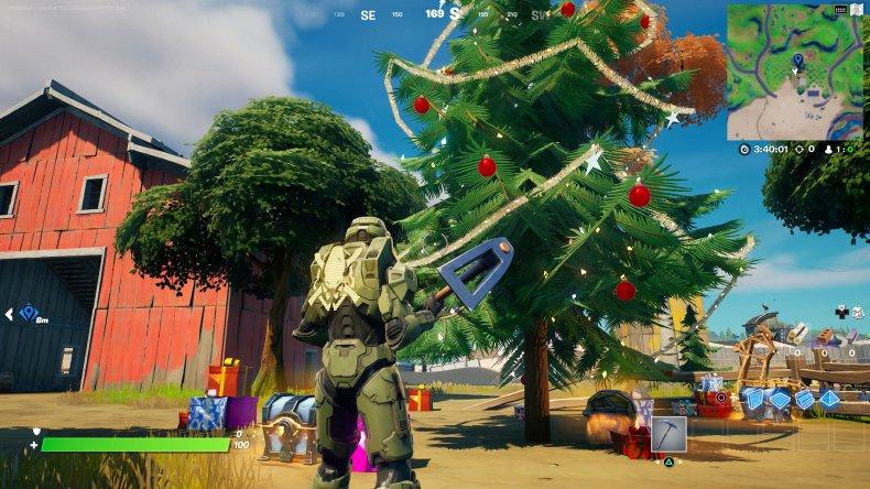 fortnite holiday tree location 6 gameplay