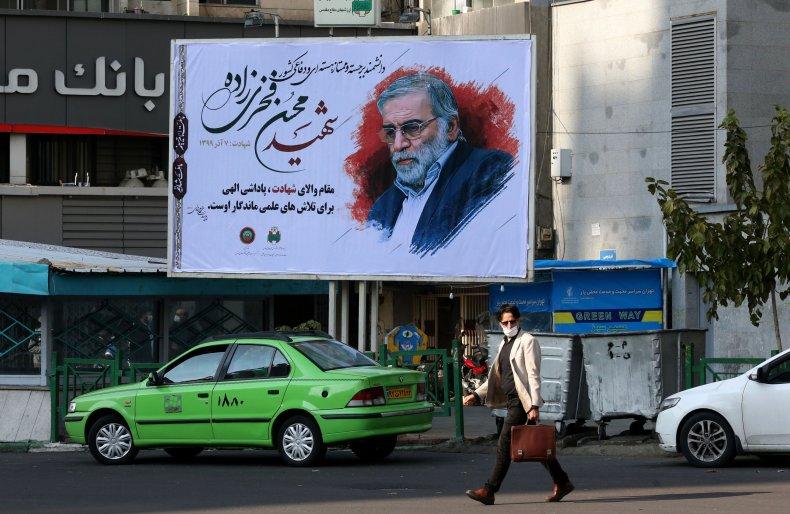 Mural in Tehran for Mohsen Fakhrizadeh