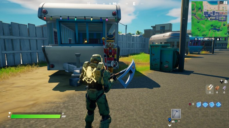 fortnite nutcracker statue location 1 gameplay