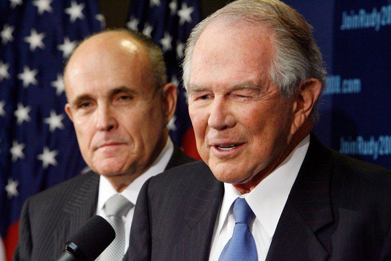 Pat Robertson, Donald Trump, Rudy Giuliani