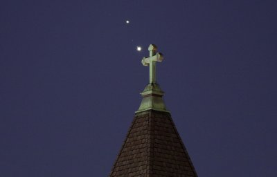 jupiter, saturn, great conjunction, christmas star, getty