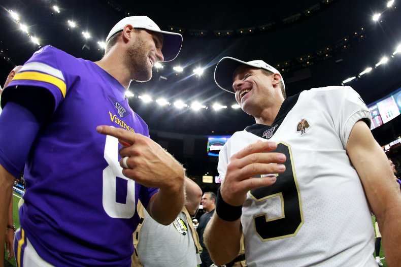 Kirk Cousins and Drew Brees