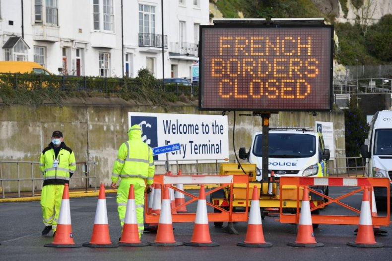 French border crossing closed at Dover, Kent,UK