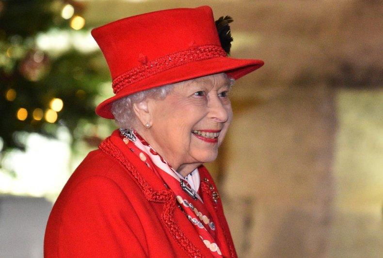 Queen Elizabeth II at Windsr Castle Christmas