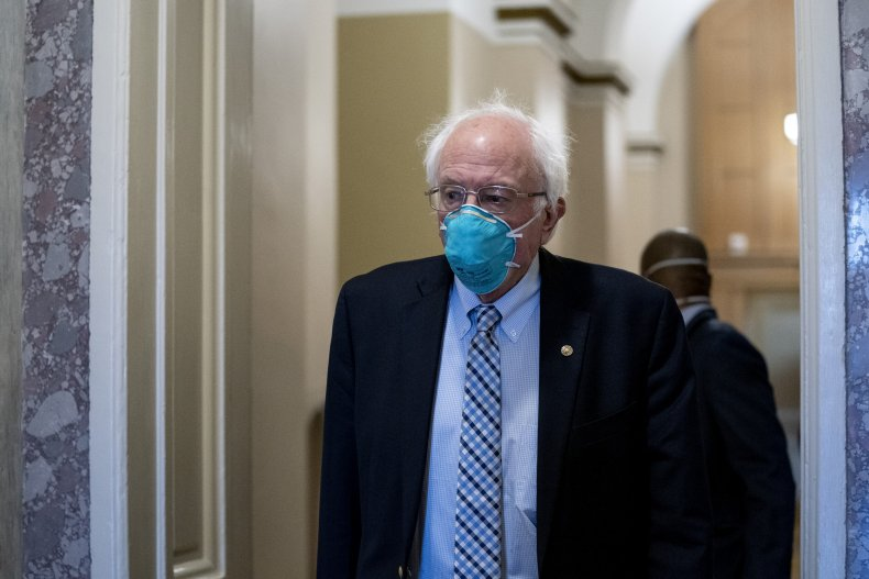 Bernie Sanders Mask Senate Capitol