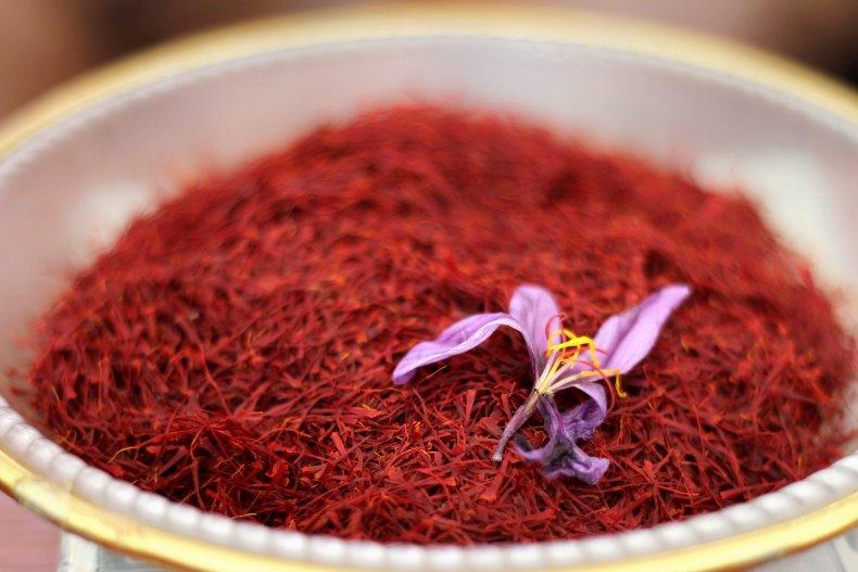 Red stigma of the saffron