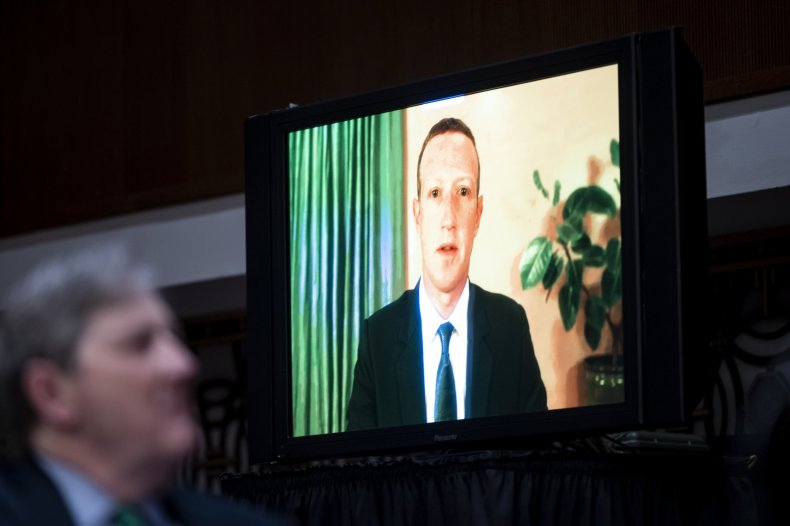 Zuckerberg testifying in Congress
