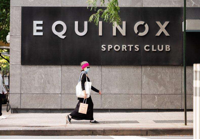 NYC Equinox gym September 2020