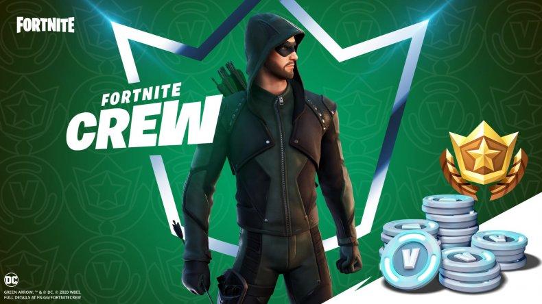fortnite green arrow crew pack