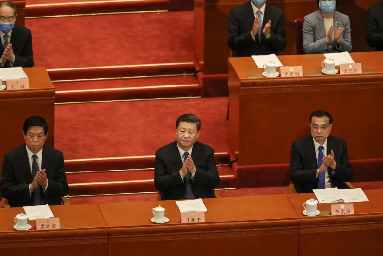 President Xi Jinping and other members of