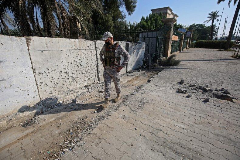 US embassy Baghdad after Iran militia attack