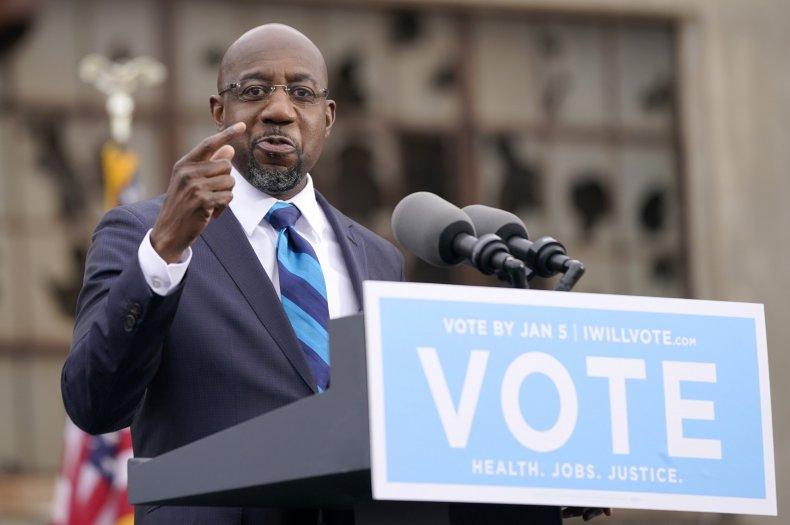 Raphael Warnock speaks in Georgia Senate runoff