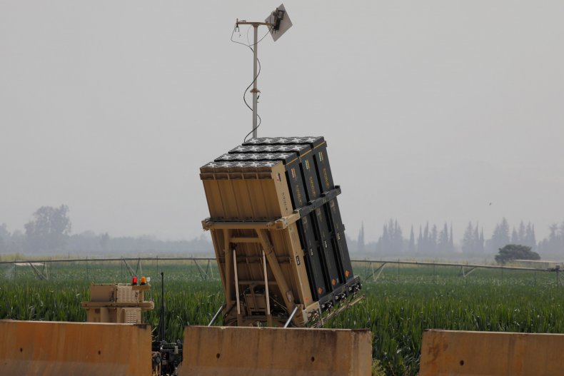 Iron Dome missile defense battery in northern