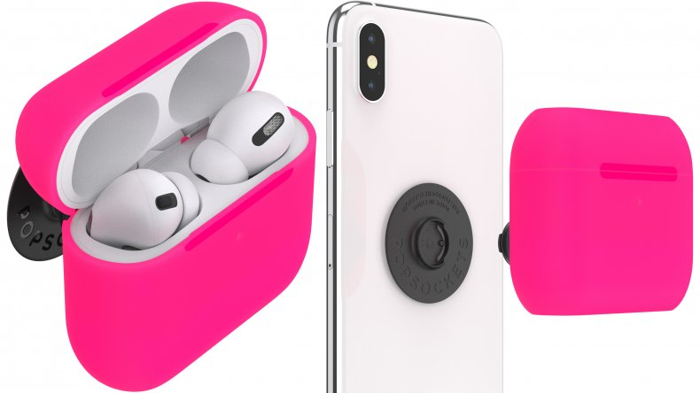 PopGrip AirPods Pro Holder Neon Pink PopSockets