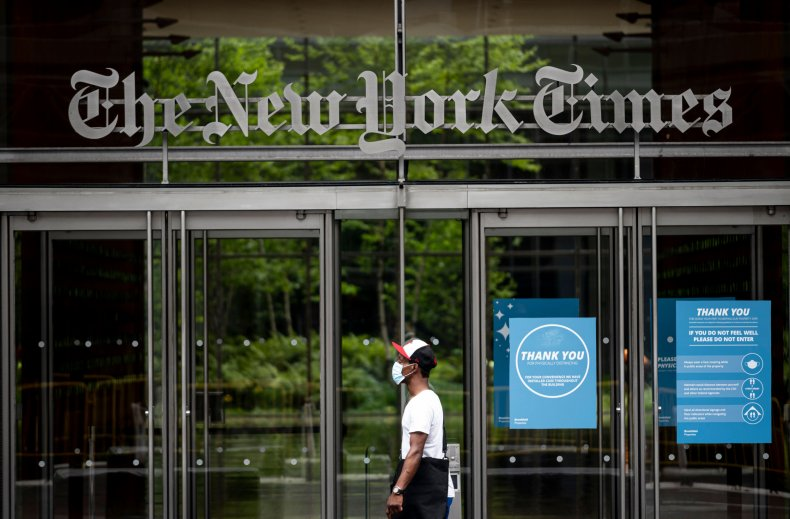 New York Times HQ amid Caliphate fallout
