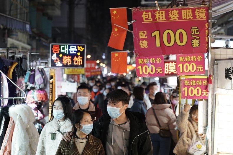 Wuhan, China night market after coronavirus response