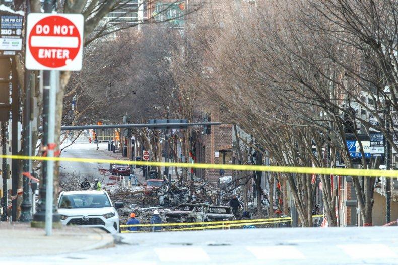 Nashville Explosion Police Line RV