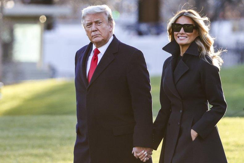 Donald Trump with Melania blames China COVID