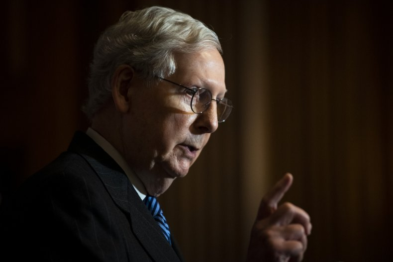 mitch mcconnell speaks at capitol