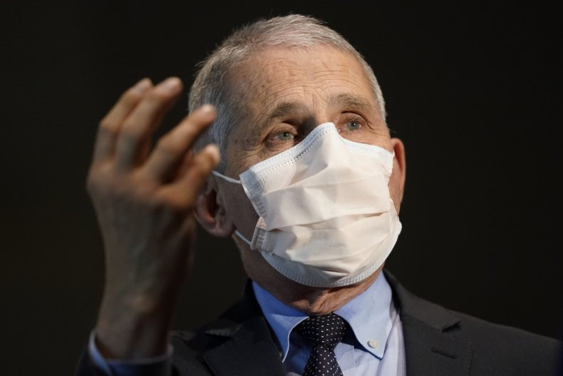 Anthony Fauci receiving COVID-19 vaccine December 2020