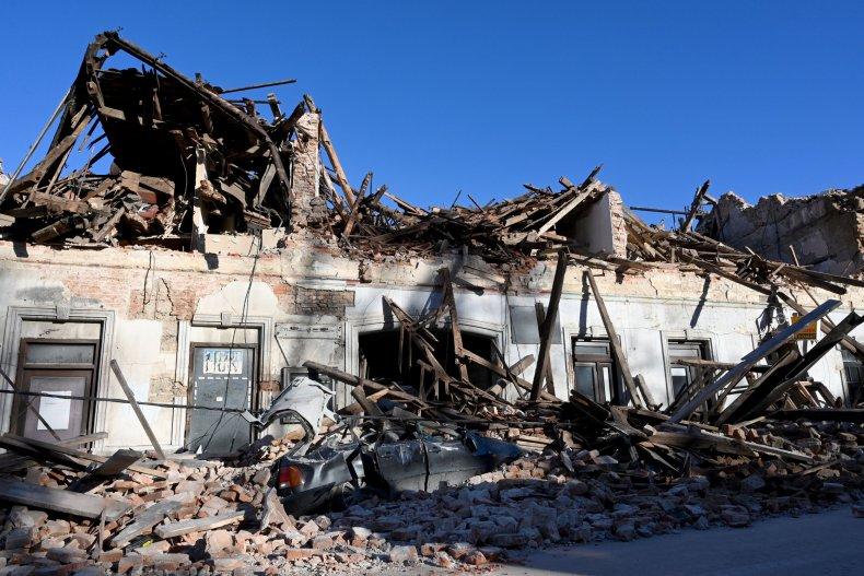 croatia, earthquake, Petrinja, getty