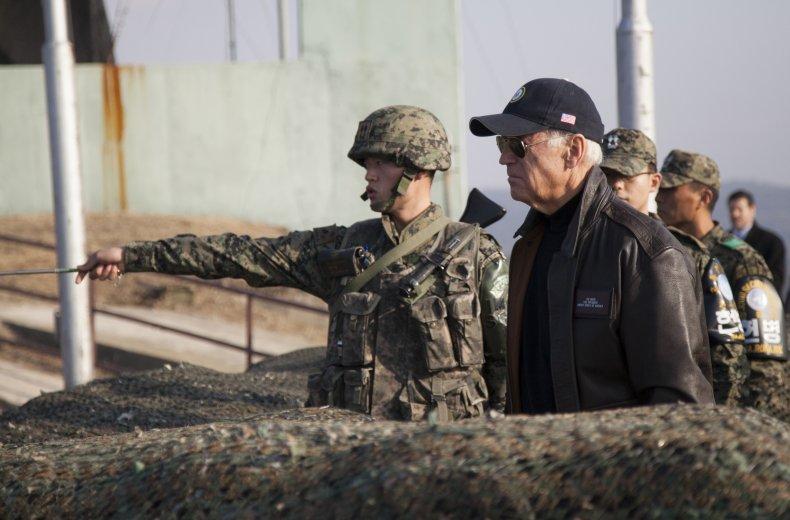 joe, biden, dmz, border, north, south, korea