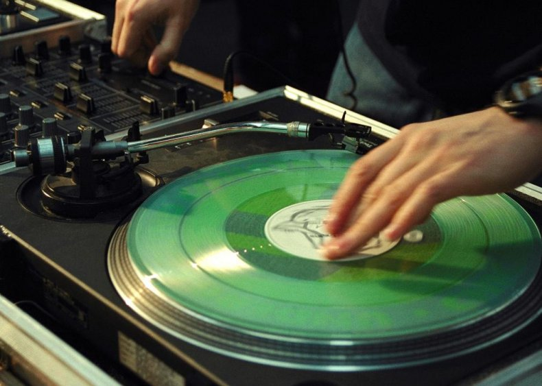 Record scratching