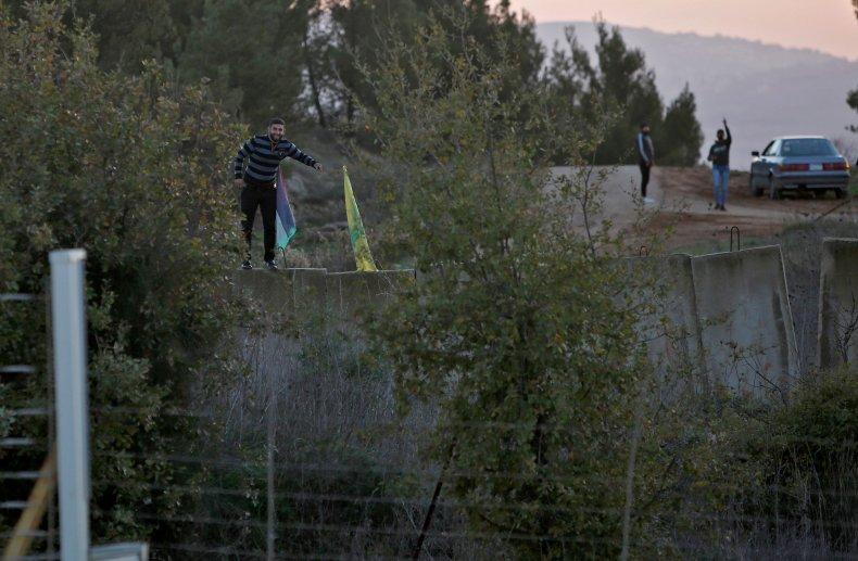 israel, lebanon, border, hezbollah, flag