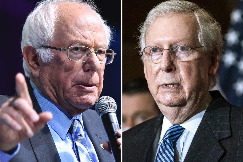Bernie Sanders & Mitch McConnell Stimulus
