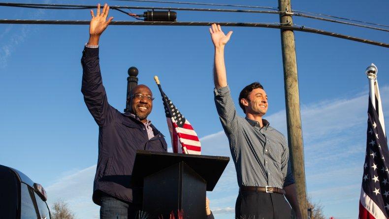 Warnock Ossoff Purdue Loeffler poll stimulus checks