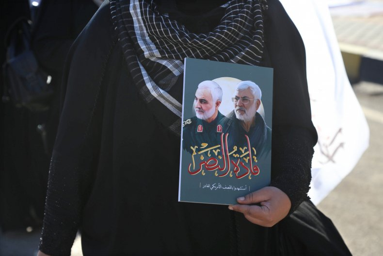 Iraq protests for Iran Qassem Soleimani anniversary