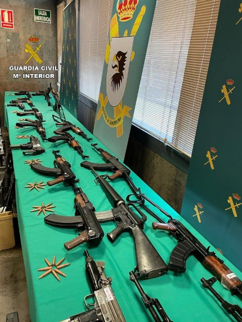 Arms trafficking raid